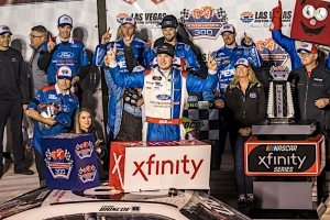 NXS: Chase Briscoe wins rain delayed Xfinty Series race at Las Vegas