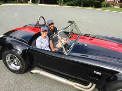 Aric Almirola Enjoys Seeing Red In His Driveway
