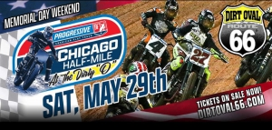 Progressive American Flat Track Racing Set to Invade Dirt Oval at Route 66