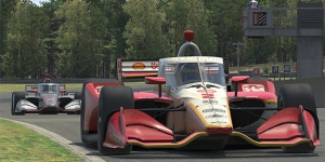 McLaughlin hangs on to edge teammate Power in Round 2 of INDYCAR iRacing Challenge at Barber