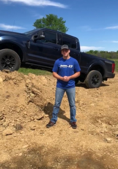 Buescher Home On The Farm With His F-350