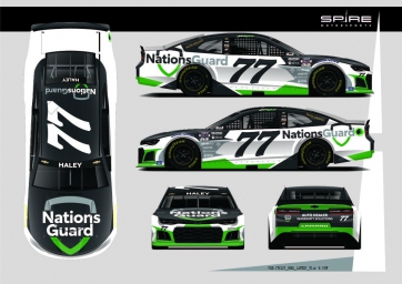 Spire Motorsports Partners with NationsGuard for Pennzoil 400