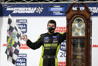 NGROTS: Grant Enfinger Wins at Martinsville, Advances Into Round of 4