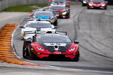 Eidson and Aghakhani Recover to Win Second Race of Lamborghini Super Trofeo North America Weekend at Road America
