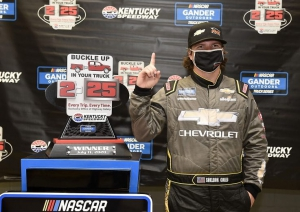 NGROTS: Sheldon Creed wins rain-shortened Truck Series race at Kentucky Speedway