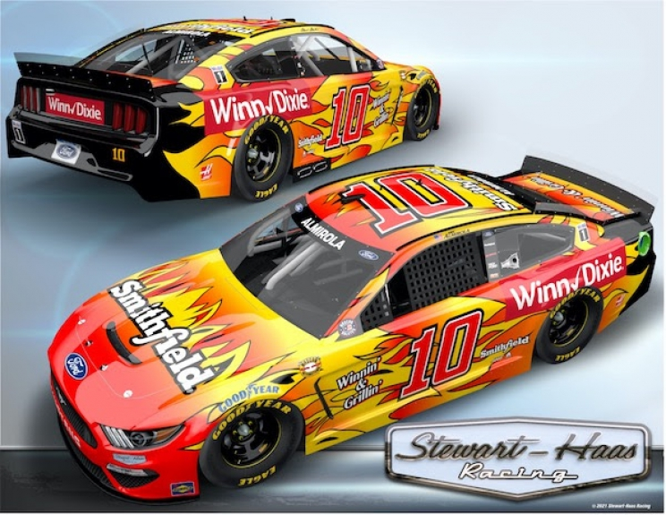 No. 10 Smithfield/Winn-Dixie Ford Racing: Aric Almirola Darlington Throwback Advance