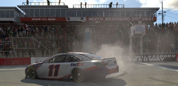 Hamlin wins eNASCAR iRacing Pro Invitational Series finale at virtual North Wilkesboro Speedway