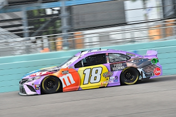 Kyle Busch, No. 18 M&M'S Fudge Brownie Toyota Camry Race Recap for the Homestead 400