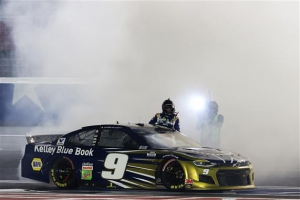 Elliott Grabs the Checkered Flag at Charlotte Motor Speedway's First Thursday Night Race