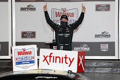 Justin Haley gets second Xfinity win in wild Daytona finish