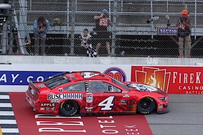 Kevin Harvick continues comination at Michigan International Speedway, wins Firekeepers Casino 400 in overtime