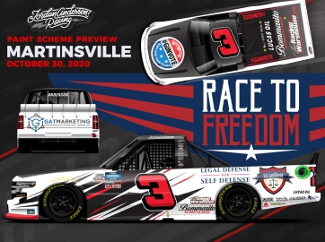 Jordan Anderson's 'Race to Freedom II' Chevrolet Locked and Loaded for Martinsville Speedway