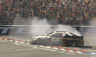 Timmy Hill wins the O'Reilly Auto Parts 125 at the virtual Texas Motor Speedway