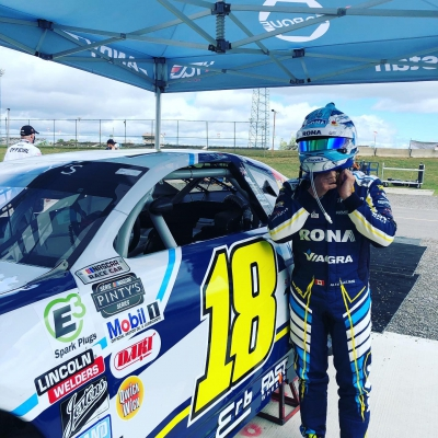 Alex Tagliani Finishes 4th and 6th in NASCAR Pinty's Flamboro Speedway Double Header
