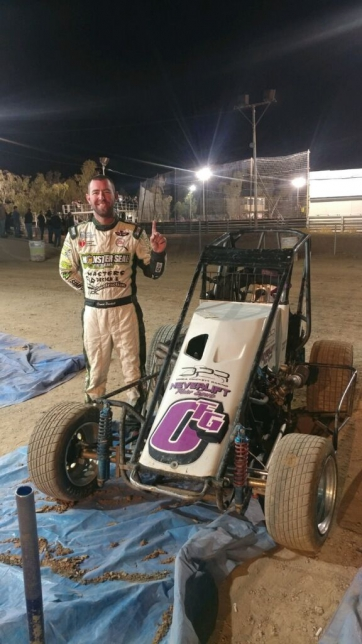 Western Midget Racing opener in Arizona goes to David Prickett