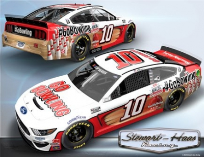 Go Bowling and Stewart-Haas Racing Gear Up  for NASCAR Races at Daytona and Richmond