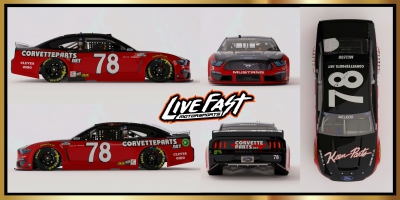 Live Fast Darlington honors Joe Weatherly in Darlington Throwback paint scheme