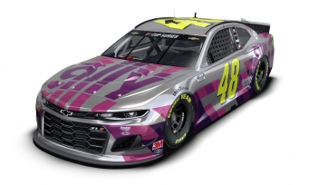 Johnson unveils chrome Ally Chevrolet for final race
