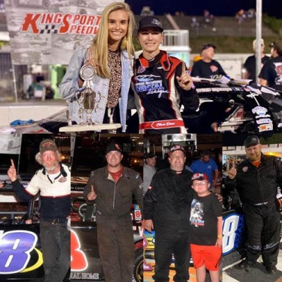 Teenager Dixon survives chaos to win Kingsport owner -- Austin, Canter, Hale and Lane also in victory lane