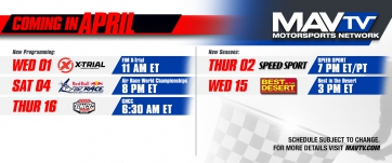 Variety of New Programming and Season Premiers Featured on MAVTV This April