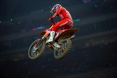 Justin Barcia Takes Third-Straight Supercross 450SX Class Opening Round Win