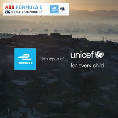 Formula E and UNICEF launch multi-year partnership to help children through UNICEF's new Safe and Healthy Environment Fund