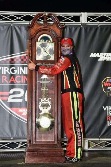 Eric Goodale Captures Grandfather Clock in the Virginia is for Racing Lovers 200 at Martinsville Speedway