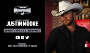 Justin Moore to perform pre-concert for eNASCAR iRacing Pro Invitational